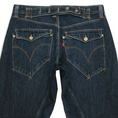 £32 • Buy LEVI'S EMGINEERED Men's Drop Crotch Cinch Back Relaxed Jeans Twisted Leg W32 L32