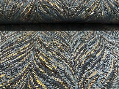 Mystique  Luxor Metallic Teal Copper Gold 140cm Wide Curtain/upholstery Fabric • 2.50£