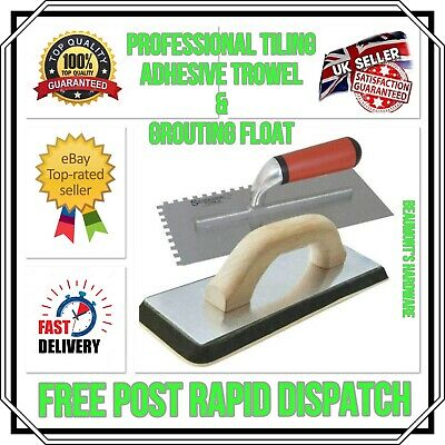 £14.99 • Buy TILE TOOLS ADHESIVE TROWEL & GROUTING FLOAT EVA RUBBER FACE *Free Rapid Post*