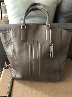 HOBBS TOTE BAG Genuine Leather Umber Brown Large • 55£