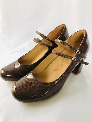 AU95 • Buy ZIERA Fedora Size 42FF (11) Brand New Patent Leather Double Buckle Comfort Heels