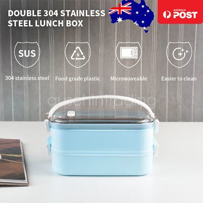 AU26.99 • Buy Multiple Layered Stainless Steel Insulated Bento Lunch Box Food Container