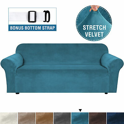 AU26.09 • Buy Velvet Plush Sofa Cover Stretch Couch Cover Furniture Protector For 1/2/3 Seater