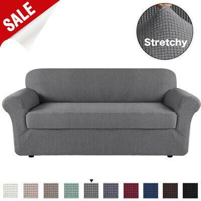 AU35.54 • Buy 2 Pieces Style Stretch Sofa Cover Couch Cover Slip Cover Small Jacquard Soft