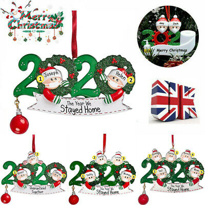2020 Christmas Tree Ornaments Family Ornament Family Xmas Lockdown Decoration🌲 • 4.29£