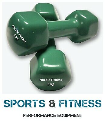 AU38.50 • Buy 3KG Pair / 6KG Set / Anti-Slip Dumbbell Weight Home Gym Fitness Workout Training