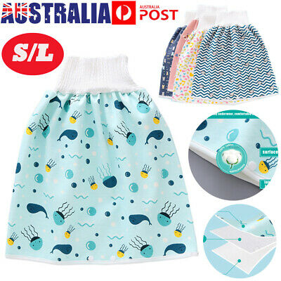 AU14.99 • Buy Comfy Baby Toddler Children Diaper Skirt Shorts 2 In 1 Waterproof Absorbent AU