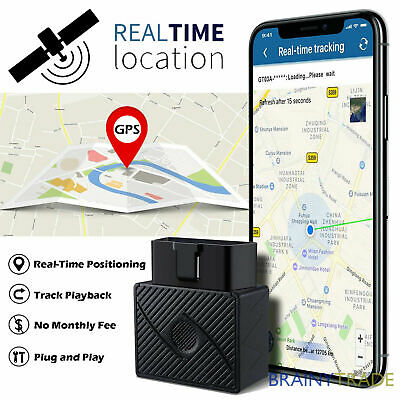 OBD2 GPS-Tracker Real Time Car Vehicle Tracking Device Spy System Locator Alarm • 12.99£