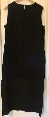 AU29 • Buy BNWT ASOS Black Shift Dress With Sheer Panel. Size 14