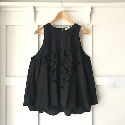 AU30 • Buy ALICE MCCALL Black Swing Embroidered Top Sz 10