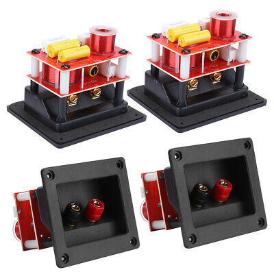 AU46.40 • Buy 2X Treble Bass HIFI Audio Crossover Filter 2‑Way Speaker Frequency Divider Board