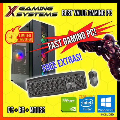 AU419.99 • Buy FAST Intel | SSD | NVIDIA | Gaming PC Computer Office Desktop I3 I5 I7
