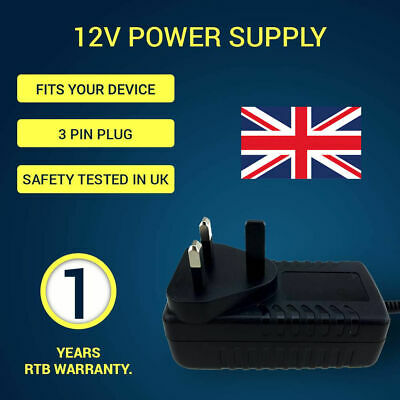 £10.99 • Buy SKYBOX V8/ V7/ V6/ M3 F3 F3S F5 F5S Openbox V8s 12v Uk DC Power Suppy Cable
