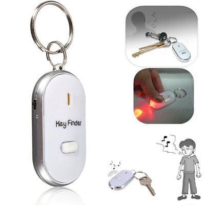 LED Key Finder Whistle Keyring Flashing Led Light Loud Beeping Locator Torch F • 6.99£