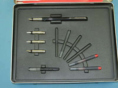 Parker Vector Calligraphy Gift Set 4 Nibs Fountain Pen In Box With Bucklet • 28.80£