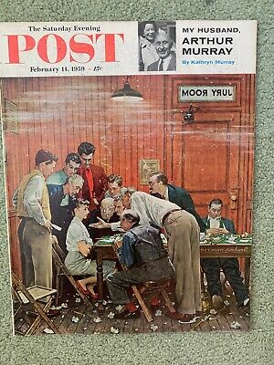 $ CDN65.70 • Buy Saturday Evening Post Norman Rockwell Cover Feb 14, 1959 Near Mint Condition