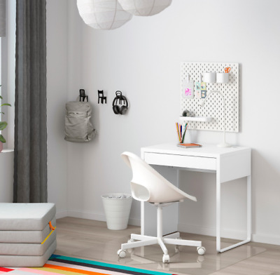 IKEA MICKE DESK Drawer Computer Desk Home Office White - New • 44£