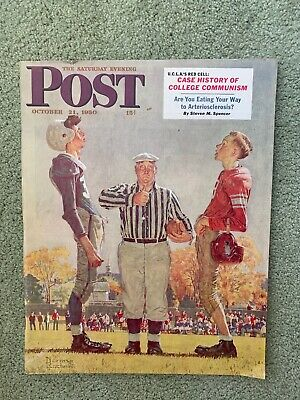 $ CDN65.70 • Buy Saturday Evening Post Norman Rockwell Cover Oct 21, 1950 Excellent Condition