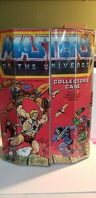$100 • Buy 3 Vintage 1984 Masters Of The Universe 8 Character Collectors Case 40700 He-Man