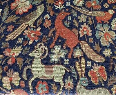 £27.99 • Buy Traditional Vintage Woodland Tapestry Curtain/Upholstery Fabric NAVY BLUE