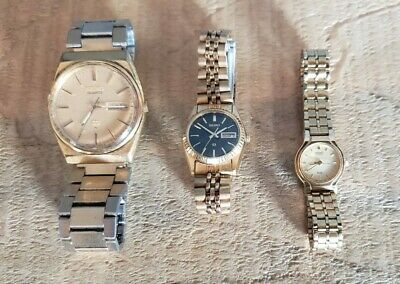 $ CDN53.60 • Buy Lot Of 3 Vintage Seiko Watches