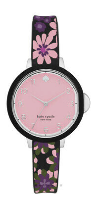 $ CDN87.99 • Buy Kate Spade New York Park Row Black Floral Silicone Watch KSW1614