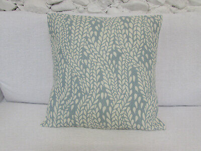Cushion Cover, Pale Duck Egg, Off White,Laura Ashley Fabric, 18 , Linen / Cotton • 9.99£