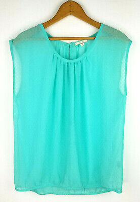 $ CDN3.93 • Buy Pleione Anthropologie Size XS Top Womens Sheer Sleeveless Shirt Keyhole Textured