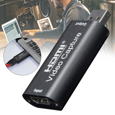 Playback Game Record Live Streaming Adapter Video Capture Card HDMI To USB Home • 10.97£