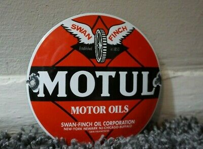 $ CDN174.24 • Buy Vintage Motul Motorcycles Porcelain Metal Sign Gas Oil Station Pump Plate Rare