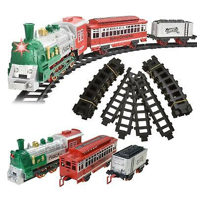 Christmas Battery Operated Train Set Tracks Light Engine Children Kids Toy HO • 13.19£