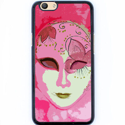 AU11.50 • Buy Hard Case Phone Cover For Oppo A59 F1s, R9s, R9s Plus -Pink Face Mask T00009