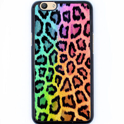 AU11.50 • Buy Hard Case Phone Cover For Oppo A59 F1s, R9s, R9s Plus - Rainbow Leopard T00013