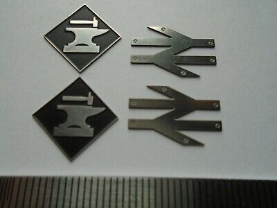 AU15.15 • Buy Motherwell Depot Plaques & Arrows. O Gauge Etched 7mm Scale Plates. Black B/g