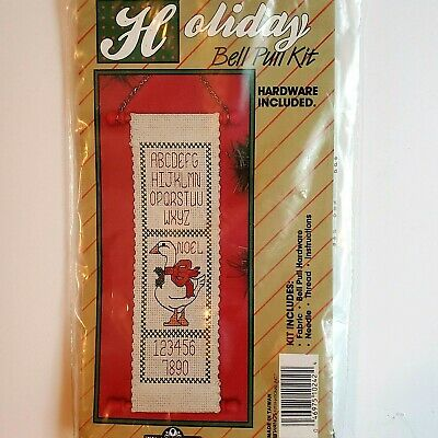 Holiday Bell Pull Cross Stitch Kit Christmas Goose Traditions Open Pkg Vintage! • 6.51£