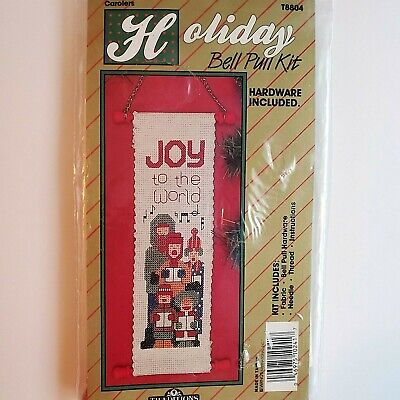 Holiday Bell Pull Cross Stitch Kit Christmas Carolers Traditions NIP Vintage! • 6.51£
