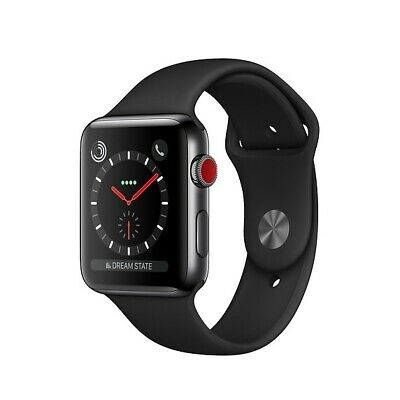 $ CDN402.17 • Buy Apple Watch Series 3 42mm Space Black Stainless Steel Case (GPS + LTE Cellular)