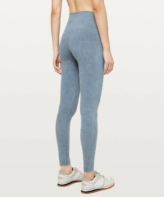 $ CDN109.93 • Buy Lululemon Women's Washed Moon Blue Wunder Under High Rise Tight Leggings Size 12