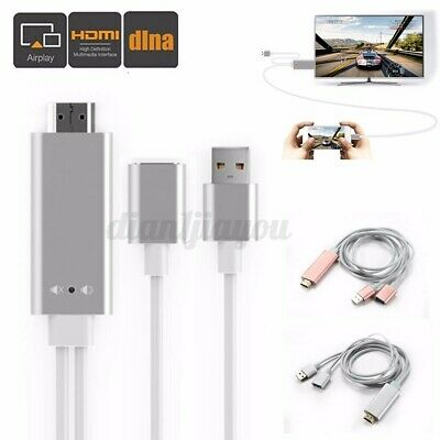 $ CDN25.30 • Buy USB HDMI Mirroring Cable Phone To Digital TV HDTV AV Adapter For IPhone Android