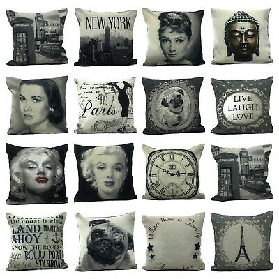 Character Iconic Vintage Tapestry Thick Material Scatter Cushion Covers 18x18  • 3.99£