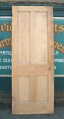 4713 Stripped Pine Four Panel Door Victorian Style • 49£