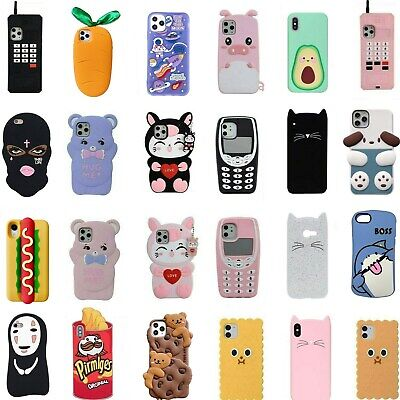 AU5.01 • Buy For IPhone 11 Pro XS Max XR 8 7 6 Plus Case Cute 3D Cartoon Soft Silicone Covers