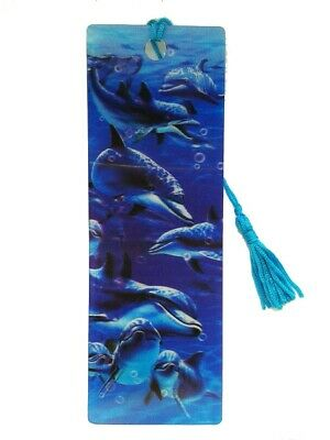£1.65 • Buy Dolphin Moving 3D Hologram Bookmark With Tassel Book Place Holder 15X6cm