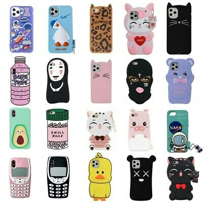 AU5.09 • Buy For IPhone 12 11 Pro Max XR 6 7 8 Plus Cute 3D Cartoon Soft Silicone Case Cover