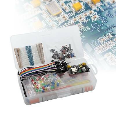 Electronic Component Starter Wires Breadboard LED Buzzer Resistor Transistor Kit • 10.89£