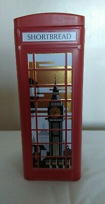 M&S London British Traditional Red Phone Box Tin, Biscuits/Sweets/ Storage,Empty • 4.75£