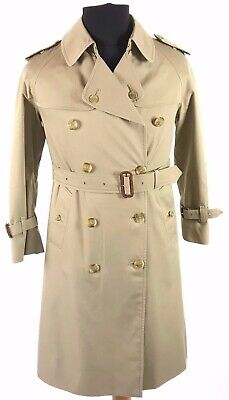 Womens Burberry Double Breasted Trench Jacket Beige 42/44 Small  • 5.50£