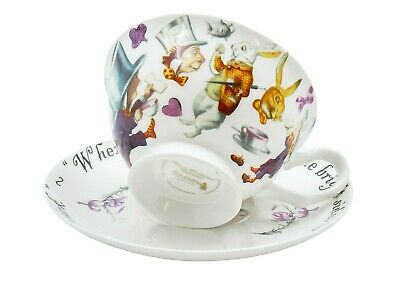 Mad Hatter Tea Cup And Saucer Set / Fine China / 210 Ml (7 Fl Oz) • 16.99£