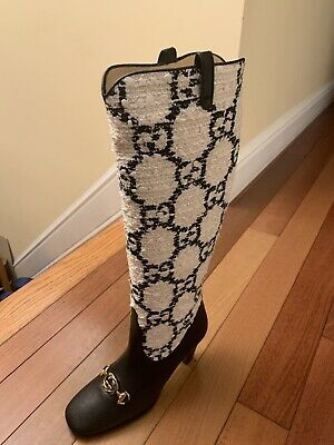 AUTHENTIC Gucci Women's Zumi Knee High Boots Size 7.5 • 1,146.99£