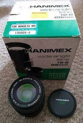 Hanimex 28mm F2.8 MC Wide Angle Lens + MD-MA Adapter For Sony A Mount Camera  • 25.50£